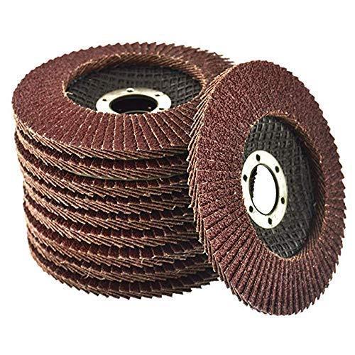 Pack of 10 Flap Grinding Disc 115mm 40 Grit Abrasive Sanding Flap Wheel for...