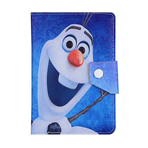 Frozen Cartoon case for Apple iPad Mini 1/2/3/4/5 Disney Princess children cover (Olaf Snowman) compatible with any 8' inch Model Tablet - Universal Size 8 inch