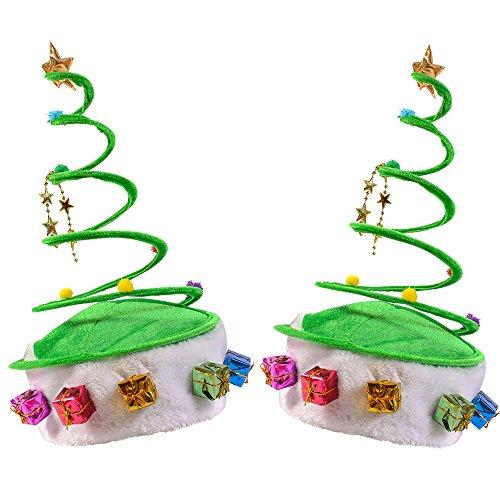 Funny Party Hats Christmas Hat - Santa Hat- Elf Hat - Reindeer hat - Coil Hat