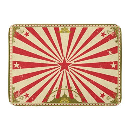 WEURIGEF Fußmatten Badteppiche Outdoor Indoor Fußmatte Karneval Zirkus Vintage für Ihre perfekte Größe Bildschirm Markise Bordüre Retro Badezimmer Dekor Badteppich Badteppich