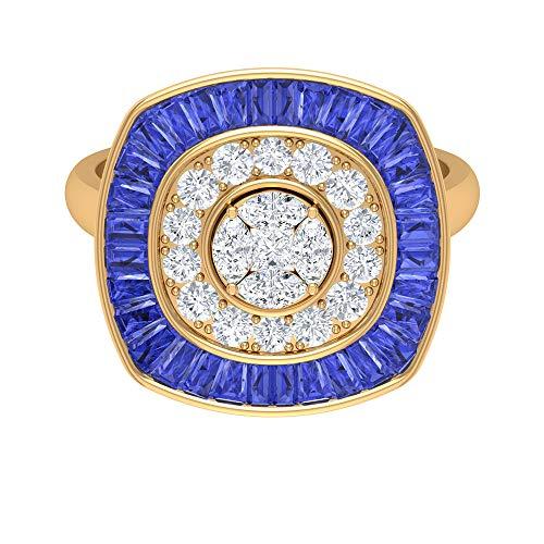 Rosec Jewels - 18 Karat Gelbgold Markise Prinzessschliff Runder Brilliantschliff Leicht Getöntes Weiß/Top Crystal (I) Diamant