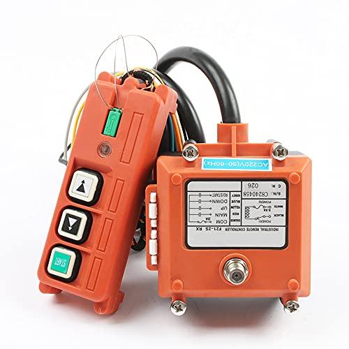 Interruptor inalámbrico Control remoto industrial Control eléctrico Control remoto Control remoto Motor de bobinado Equipo de arena F21-2S,AC 220V,VHF 310-331Mhz