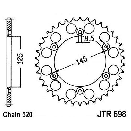 JT Pignon 44 Dents Division Argent 525 jtr702.44