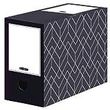 Bankers Box Juego de 5 cajas archivadoras A4 Décor para oficina y hogar, 150 mm de ancho, 100% cartón ondulado reciclado, color azul medianoche