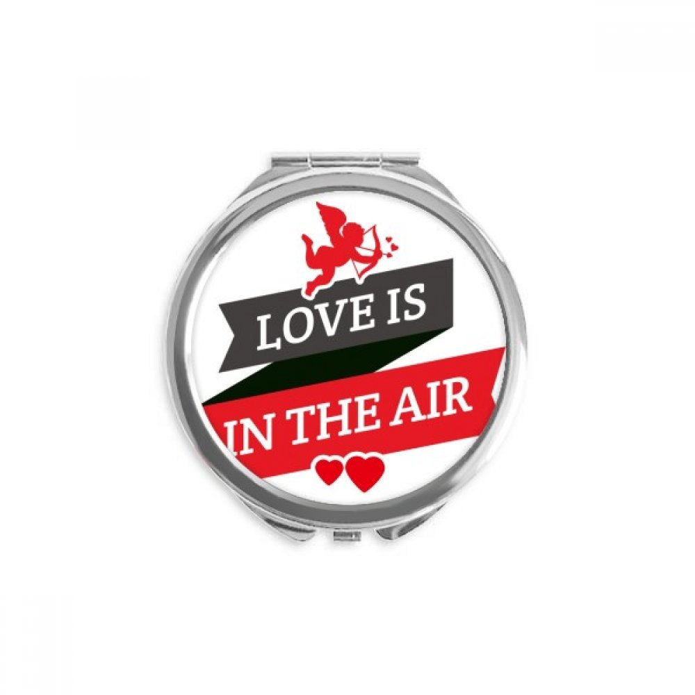 Valentine's Outlet ☆ Free Shipping Day Love Is In The Round Compact Mirror New Orleans Mall Por Hand Air
