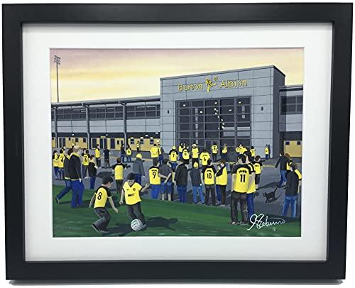 Burton Albion F.C, Pirelli Stadium Framed, Professionally Printed Football Memorabilia Giclee Art Print.