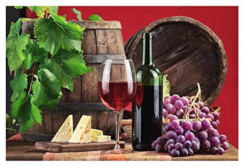 BCDJYFL 1000 pcs Puzzle Piezas Rompecabezas de Ingredientes del Vino Tinto niños decoración del Juguetes Regalo interesantes