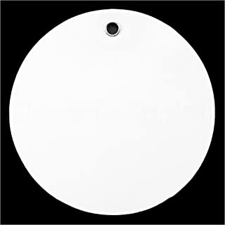 50 Pack - CleverDelights White Plastic Tags - 2