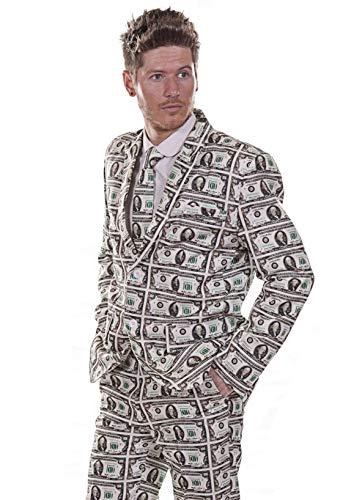 $100 Dlar Money Mens Stag Do traje traje traje traje de fiesta traje (44 pulgadas - 46 pulgadas pecho)