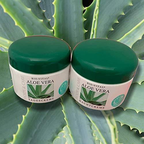 Megaprom 2er Aloe Vera Tages- & Nachtcreme, Nachtspflege, Tagespflege, Gesichtspflege Creme | Hautcreme | Gesichtscreme Set
