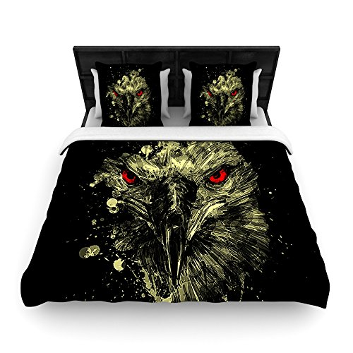104 x 88 Kess InHouse Art Love Passion Daisy and Gatsby Abstract Puppies Cotton King Duvet Cover