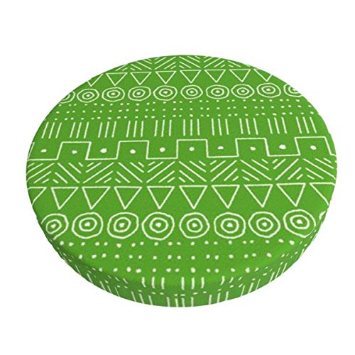 Round Bar Stools Cover,Mudcloth Style In Limonengrün,Stretch Chair Seat Bar Stool Cover Seat Cushion Slipcovers Chair Cushion Cover Round Lift Chair Stool