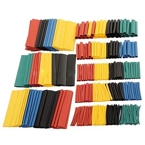 Schrumpfschlauch bunt farbig mit Innen Kleber Set Sortiment Box 127/328/560/580Pcs hohe Schrumpfrate übersichtlich im Sortimentskasten Premiumqualität halogenfrei wasserfest Industriequalität