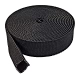 """Electriduct 1.25"""" Nylon Protective Hose Sleeve - 25 Feet - Black"""