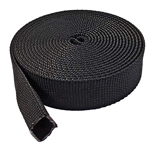 Electriduct 1.25' Nylon Protective Hose Sleeve - 10 Feet - Black