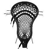 StringKing Men's Legend Intermediate Lacrosse Head Strung with Type 3s Mesh (Black/Black)
