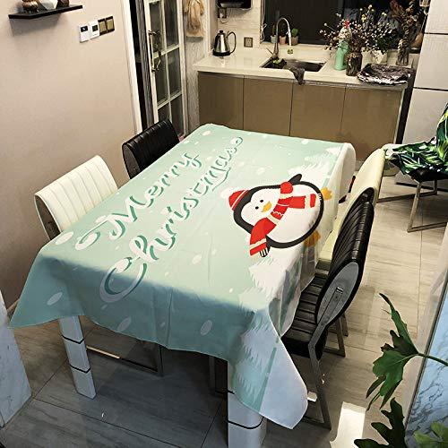 SHANGZHAI Tierserie, digital Bedruckte Tischdecke, wasserdichte Antifouling-Tischdecke aus Polyester, einfache Tischdecke für Haushaltsmode, Kaffeetischdecke 13 90x90 cm