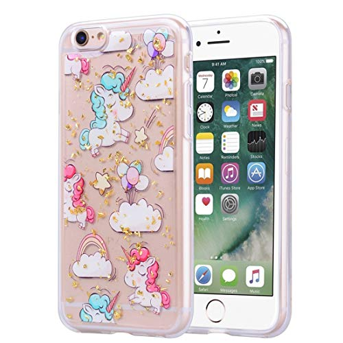 Compatibele Vervangings Gouden Folie Style Dropping Glue TPU Soft beschermhoes for de iPhone 6 Accessory (Pattern : Pony)