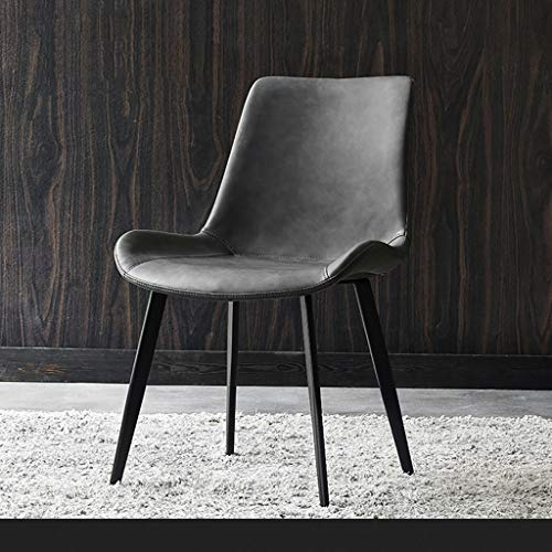 HE-XSHDTT Esszimmerstuhl modernes minimalistisches Restaurant, Leichter Ledersessel, kreativer Stuhl, eiserner Stuhl, geeignet für Esszimmer, Schlafzimmer, Küche