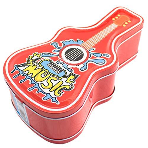 ABOOFAN Alcancía Metal Dinero Moneda Banco Guitarra Forma Lata Hojalata Contenedores de Almacenamiento para Niños Niños Estilo Aleatorio