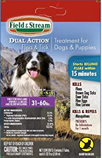 Field & Stream Dual Action Flea and Tick Treatment for Large Dogs & Puppies 31-60lbs