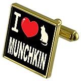 Select Gifts Me Encanta mi Gato Gold-Tone Gemelos Money Clip Munchkin