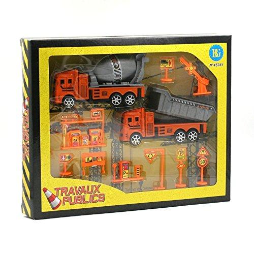 Set de 2 camions travaux + accessoires