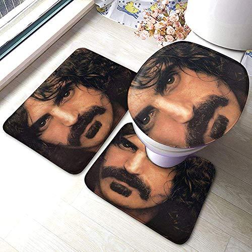 Juego de Alfombrillas de baño Frank Zappa Apostrophe, Alfombrillas Antideslizantes de 3 Piezas Alfombrilla de baño + Contorno + Tapa de Inodoro