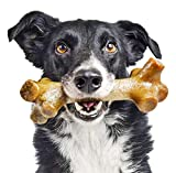 Pet Qwerks BarkBone Peanut Butter Chew Stick - Durable Dog Bones for Aggressive Chewers, Tough Extreme Power Chewer Toys | Made in USA- Large for Medium Dogs