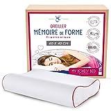 My Lovely Bed - Oreiller Ergonomique Mémoire de Forme 60x40 cm - Orthopédique :...
