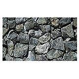 PHILSP Fondo para acuarios de roca, piedras grises, terrario rocoso duradero, decoración de pared, para pecera L