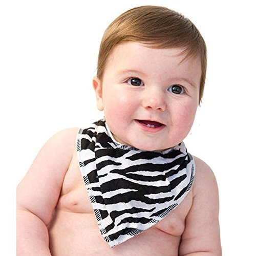 NOO Bandana Bib - Zebra - 0-18 Months by NOO
