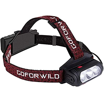 GOFORWILD Headlamp, Brightest LED Work Headlight,18650 USB Rechargeable Waterproof Flashlight with Work Light,Head Lights for Camping,Hiking, Outdoors