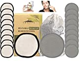 Reusable Cotton Pads For Face - 20 Pk W/Laundry Bag - Soft NYC-Designed Reusable Makeup Remover Pads - Washable Bamboo Cotton Rounds - Round Cotton Facial Pad For Toner - Face Rounds For Make Up
