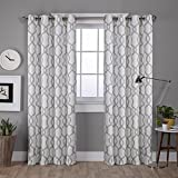 Exclusive Home Curtains Kochi Linen Blend Grommet Top Curtain Panel Pair, 52x96, Dove Grey, 2 Count
