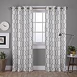 Exclusive Home Curtains Kochi Grommet Top Panel Pair, Dove Grey, 54x63, 2 Piece