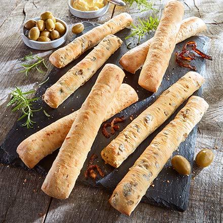 Besser Brotstangen Mix Zwiebel Olive; 800 g, 8 Stück