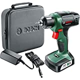 Bosch 06039B3070 EasyDrill 12 Cordless Drill/Driver with Integrated 12 V Lithium-Ion Battery and Soft Bag, Green, 9.0 cm*24.0 cm*25.0 cm