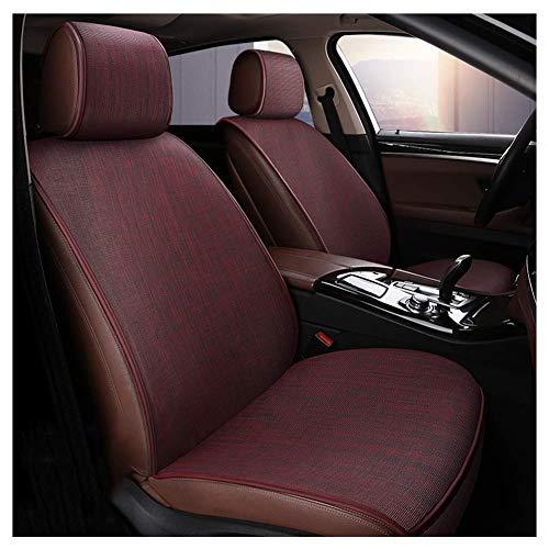 GJHK Funda protectora para asiento interior de coche, transpirable, fácil de limpiar, 6 colores (color rojo, tamaño: A)