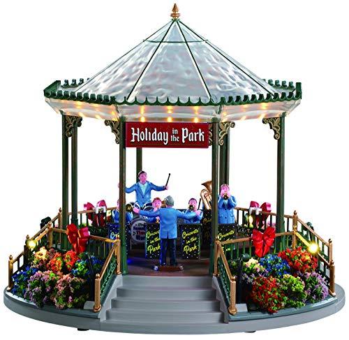 Lemax 94551 - Holiday Garden Green Bandstand - NEU 2019 - Feriengarten Musikpavillon - Beleuchtet und So& - Weihnachtswelt/Weihnachtsdorf