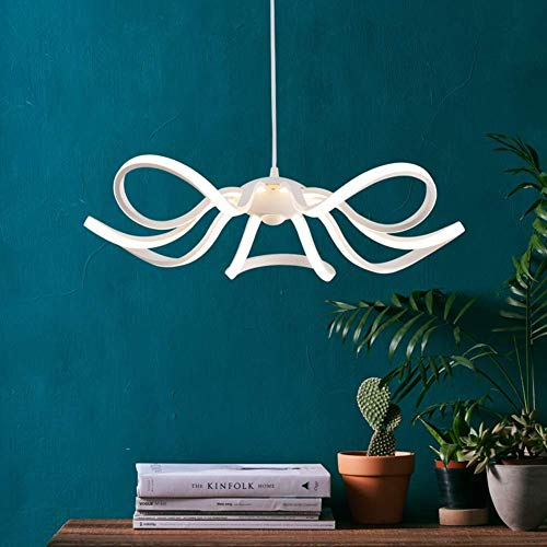 LFK Lámparas LED de acrílico, 65W Lámparas Colgantes de Techo Creativas Luces Colgantes de Montaje Empotrado Blanco Moderno-Blanco cálido
