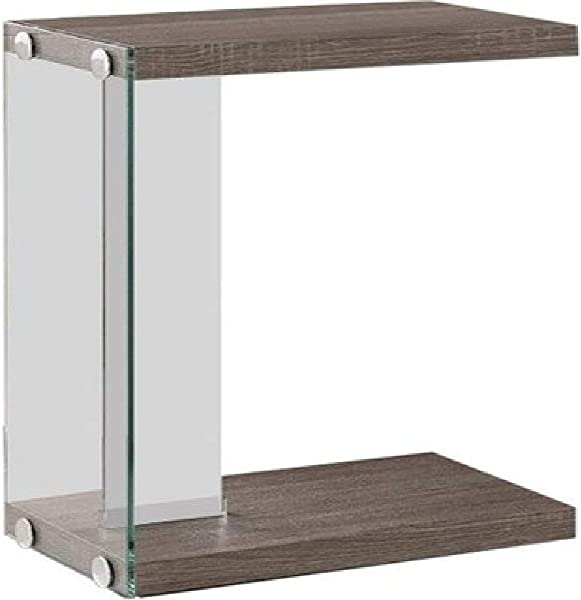 Sleek Accent Table Weathered Grey