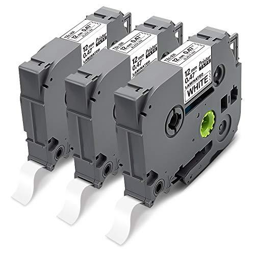 Pristar Kompatible für Brother TZe-231 TZe231 TZ-231 Tze 12mm 0.47 Laminated White Schriftbänder für Brother PTH100R PT-D400 PT-H105 PT-E100 PT-1000 PT-1080 D600VP PT-H110 PT-H101 H107B D210 H100LB