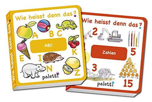 Wie heisst denn das? Kinderbücher 2er Set Pappbuch ABC und Zahlen