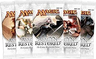 5 (Five) Packs of Magic the Gathering - MTG: Avacyn Restored Booster Pack Lot (5 Packs)