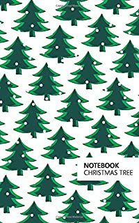 Christmas Tree Notebook: (White Green Edition) Fun Notebook 96 Ruled/Lined Pages (5x8 inches / 12.7x20.3cm / Junior Legal ...
