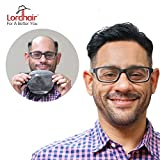 Lordhair Toupee with Human Hair and 0.06mm Super Thin Skin All V-looped Technology Toupee Mens Hair Pieces Hair Replacement