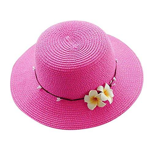 Bobury Preciosa Paja de Las Mujeres Cap Panamá Vestido de niña de Las Flores Sombrero de Sol Señora Verano Viajes Playa Campamento de ala Ancha Sombrero de Fisher