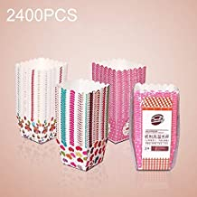 AYSMG 2400 PCS Square Lamination Cake Cup Muffin Cases Chocolate Cupcake Liner Baking Cup, Size: 6 x 5 x 5cm, Random Color Delivery ALISUONG