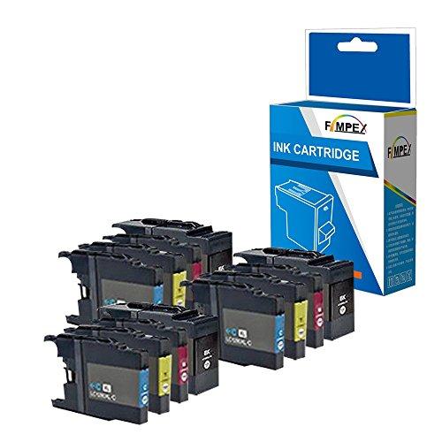Fimpex Compatibile Tinta Cartucho Reemplazo para Brother MFC-J5910DW MFC-J6510DW MFC-J6710D MFC-J6710DW MFC-J6910DW LC1280 (Negro/Cian/Magenta/Amarillo, 12-Pack)